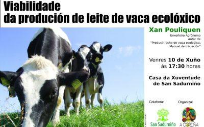 Charla: Viabilidade da produción de leite de vaca ecolóxico