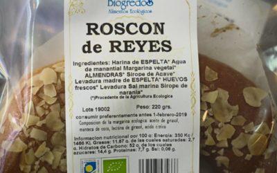 Roscóns de Reis ecolóxicos, sin gluten ou de espelta